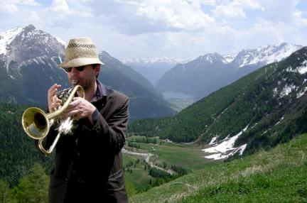 Axel Dörner plays the trumpet