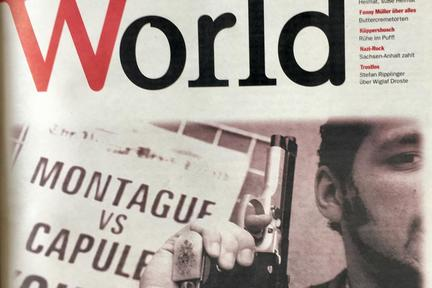Titelseite der ersten JungleWorld-Ausgabe, 04. Juni 1997 / Bild: Archiv 2. Juni