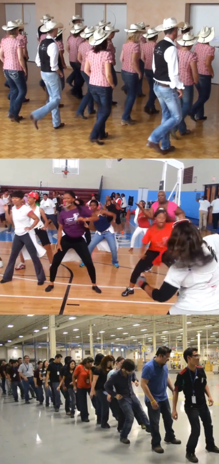 Line dancing as performance, sport, health care