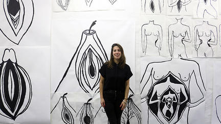 Sofia Lomba, In her studio, Berlin.